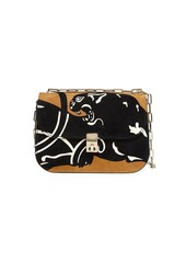 Valentino Garavani Panther Suede Chain Shoulder Bag