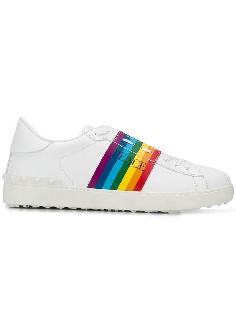 Valentino Garavani Peace rainbow stripe sneakers