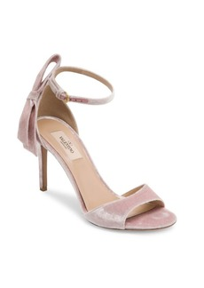 VALENTINO GARAVANI Pretty Bow Velvet Ankle-Strap Sandals
