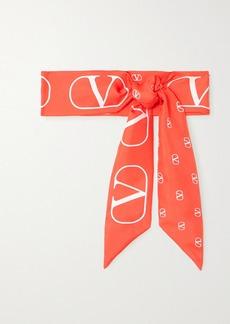 Valentino Garavani Printed Silk-twill Scarf