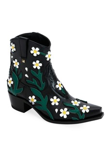 Valentino Garavani Ranch Daisy Applique Boots
