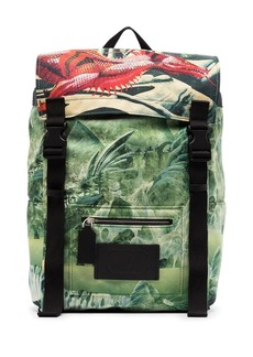 Valentino Red Dragon print backpack