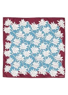 VALENTINO GARAVANI Rhododenron Square Silk Scarf