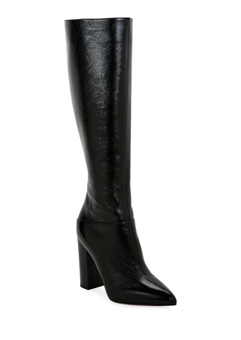 Valentino Garavani Ring Rockstud Patent Knee Boots