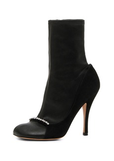Valentino Garavani Ring-Toes Napa and Suede Stretch Sock Booties