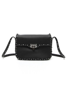 VALENTINO GARAVANI 'Rockstud - Noir' Calfskin Leather Shoulder Bag
