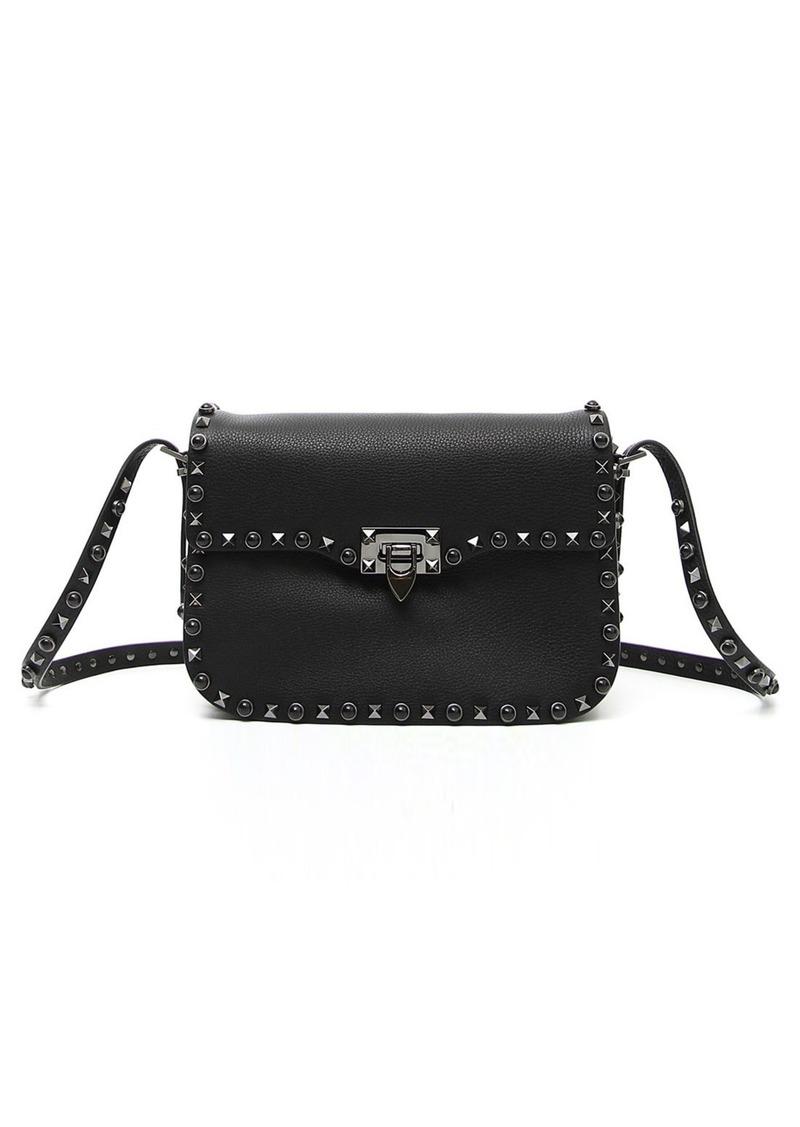 4496b62d91 GARAVANI 'Rockstud - Noir' Calfskin Leather Shoulder Bag. Valentino