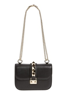 VALENTINO GARAVANI Rockstud - Small Lock Leather Crossbody Bag