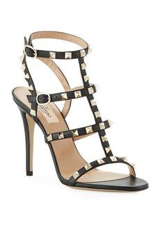 Valentino Garavani Rockstud 105mm Caged Leather Sandal