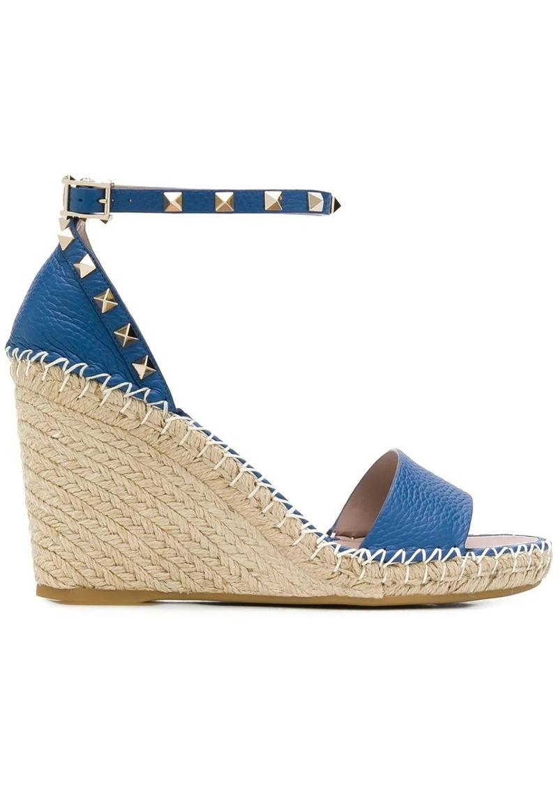 Valentino Garavani Rockstud 95mm wedge sandals