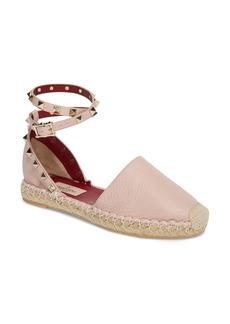 VALENTINO GARAVANI Rockstud Ankle Strap Espadrille (Women)