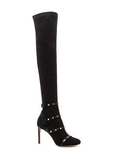VALENTINO GARAVANI Rockstud Bodytech Over the Knee Boot (Women)