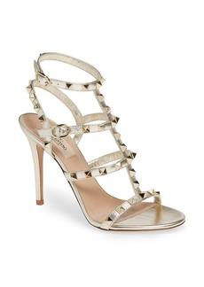 VALENTINO GARAVANI Rockstud Metallic Ankle Strap Sandal (Women)