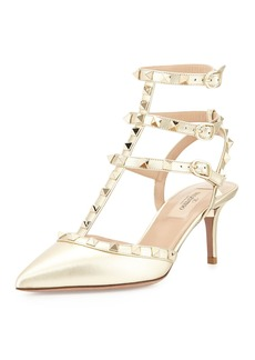 Valentino Garavani Rockstud Caged 65mm Pump