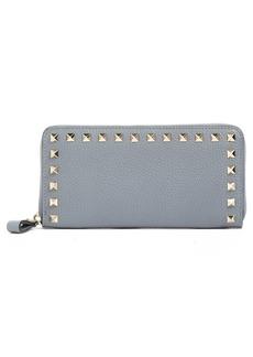 VALENTINO GARAVANI 'Rockstud' Calfskin Leather Continental Wallet