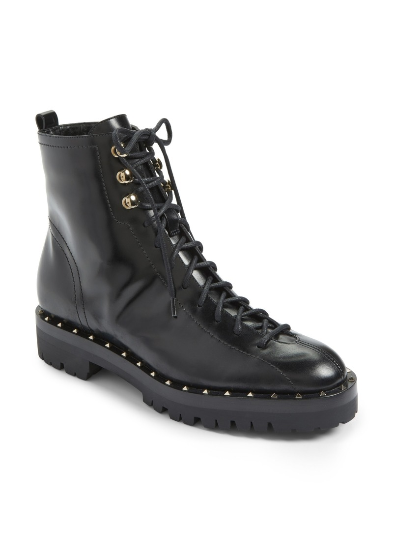 a77ba678278 Valentino VALENTINO GARAVANI Rockstud Combat Boot (Women) | Shoes