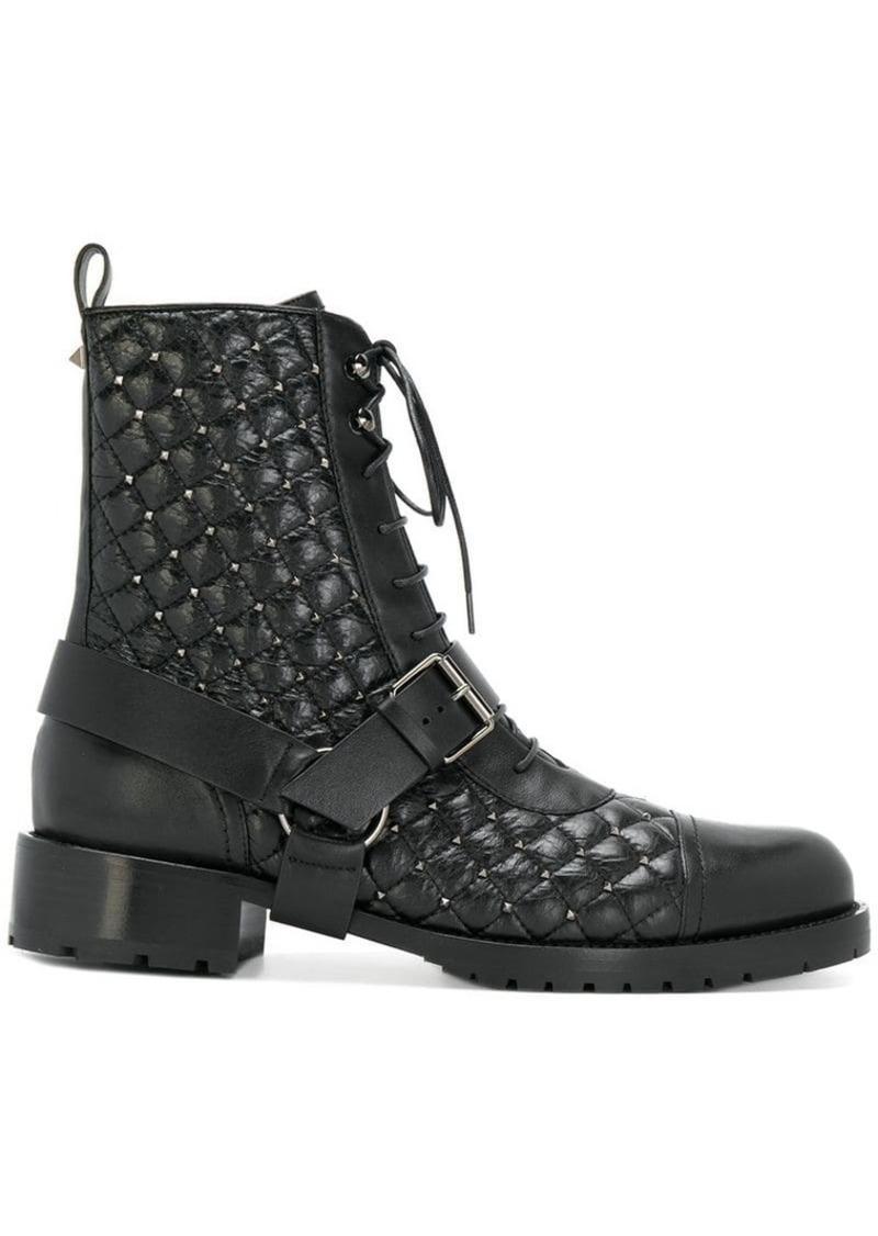 841af935ac4 Garavani Rockstud combat boots