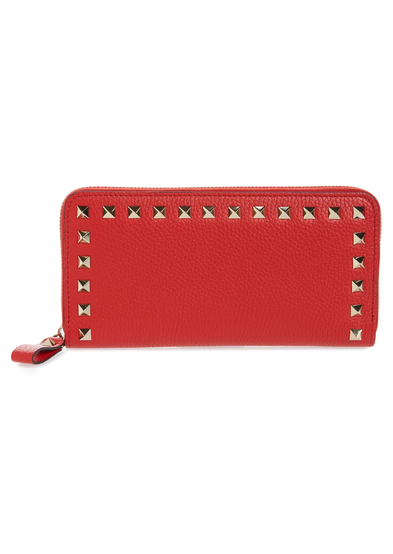 Valentino Garavani Rockstud Continental Leather Wallet