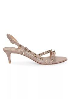 Valentino Garavani Rockstud Flair Slingback Leather Sandals