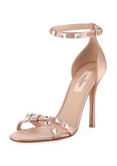 Valentino Garavani Rockstud Glam Satin City Sandal