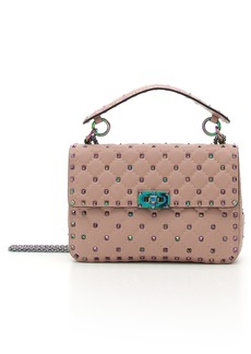 VALENTINO GARAVANI Rockstud Lambskin Leather Shoulder Bag