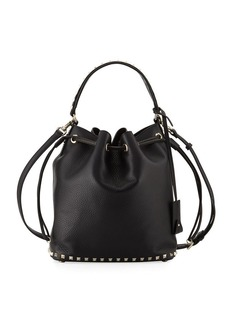 Valentino Garavani Rockstud Large Leather Bucket Bag
