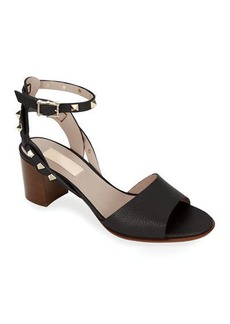 Valentino Garavani Rockstud Leather Ankle-Strap Sandals