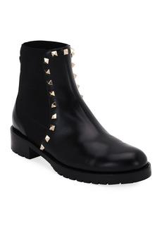 Valentino Garavani Rockstud Leather Boot  Black