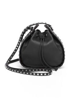 Valentino Rockstud Leather Bucket Bag