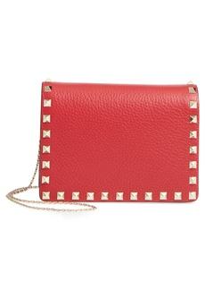 VALENTINO GARAVANI Rockstud Leather Pouch Wallet on a Chain