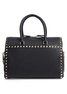 VALENTINO GARAVANI Rockstud Leather Duffel Bag