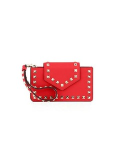 Valentino Garavani Rockstud Leather Flap Phone Case