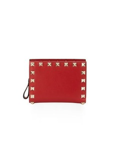 Valentino Rockstud Leather French Wallet