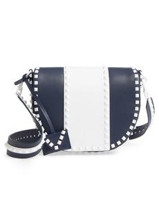 VALENTINO GARAVANI Rockstud Leather Saddle Bag