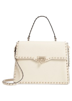 VALENTINO GARAVANI Rockstud Leather Satchel