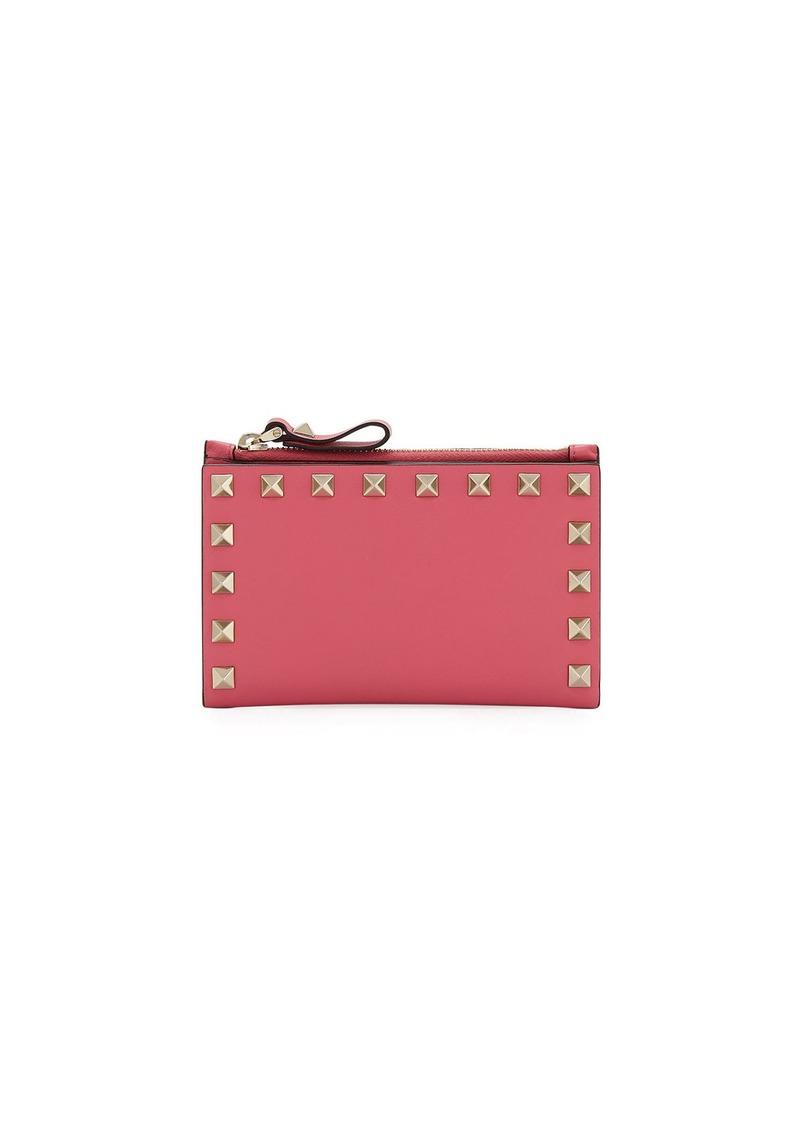 0d055f48ddf01 Valentino Valentino Garavani Rockstud Leather Zip Coin Purse/Card ...