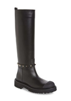 VALENTINO GARAVANI Rockstud Lug Rain Boot (Women)