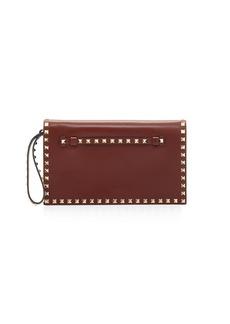 Valentino Garavani Rockstud Medium Flap Wristlet Clutch Bag