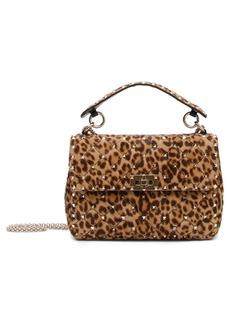 VALENTINO GARAVANI Rockstud Medium Genuine Calf Hair Shoulder Bag
