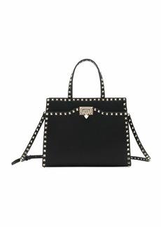 Valentino Garavani Rockstud Medium Vitello Leather Tote Bag