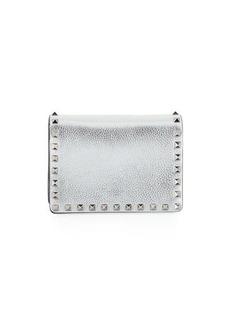 Valentino Garavani Rockstud Metallic Leather Pouch Bag on a Chain
