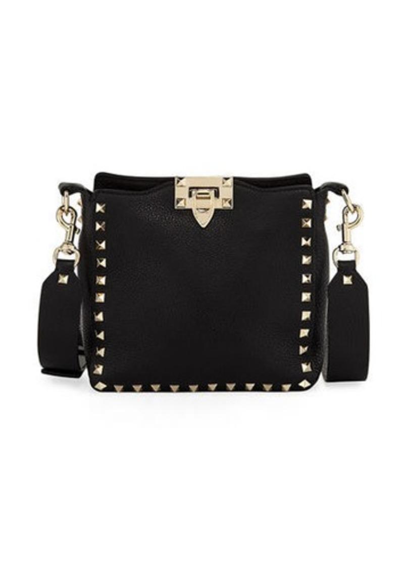8ce2b1e359216 Valentino Rockstud Mini Vitello Stampa Leather Hobo Bag