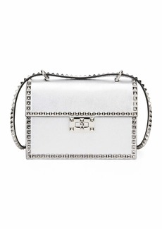 Valentino Garavani Rockstud No Limit Small Metallic Leather Shoulder Bag