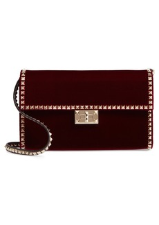 VALENTINO GARAVANI Rockstud No Limit Velvet Shoulder Bag