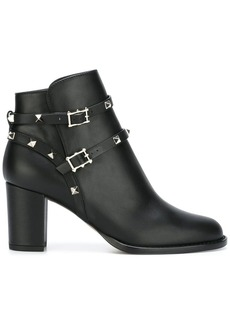 Valentino Garavani 'Rockstud Noir' ankle boots
