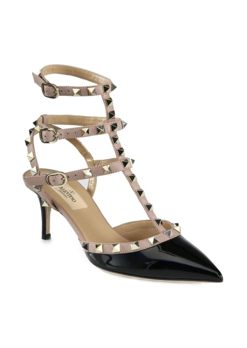 a8b3b4f11 Valentino Rockstud Patent Leather Pumps | Shoes