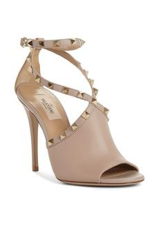 VALENTINO GARAVANI Rockstud Peep Toe Sandal (Women)