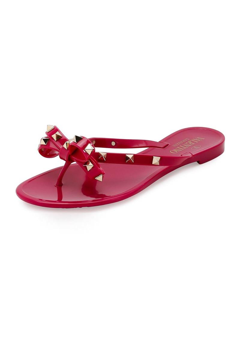 d8cc7bffdf49 Valentino Rockstud PVC Flat Thong Sandals