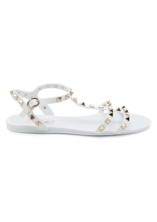 Valentino Rockstud Jelly Gladiator Sandals