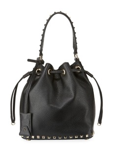 Valentino Garavani Rockstud Small Leather Bucket Bag